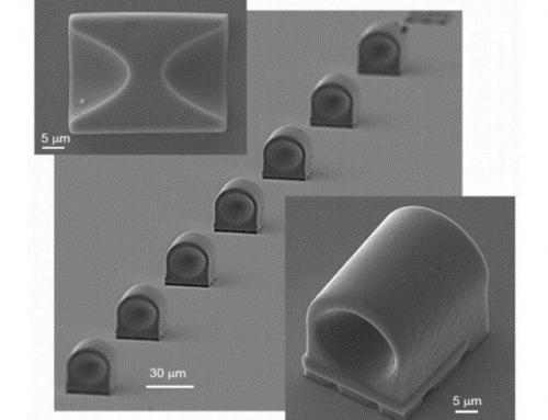 Полимерные рентгеновские микролинзы, изготовленные двухфотонной лазерной литографией